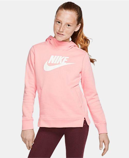 Nike Big Girls Fleece Logo Hoodie
