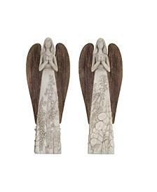 Melrose International Angel Set of 2 Resin