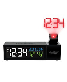 La Crosse Technology Pop-Up Bar Projection Alarm Clock with USB Charging Port