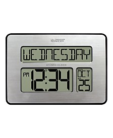 La Crosse Technology Atomic Full Calendar Digital Clock with Extra Large Digits