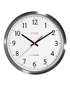"La Crosse Technology 14"" UltrAtomic Analog Stainless Steel Wall Clock"