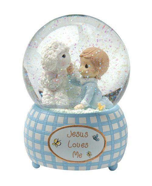 Precious Moments Jesus Loves Me Snow Globe, Boy