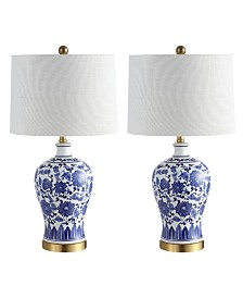 "Jonathan Y Jennifer 25.75"" Ceramic/Metal LED Table Lamp - Set of 2"