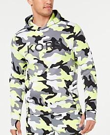 Michael Kors Men's Stretch Neon Camo Logo-Print Hoodie