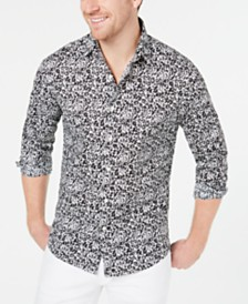 Michael Kors Men's Slim-Fit Stretch Floral Shirt