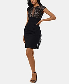Ruched Lace Sheath Dress