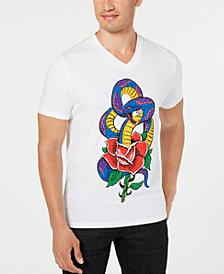 I.N.C. International Concepts Men's Rhinestone Snake T-Shirt