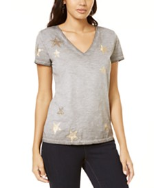 I.N.C. Star Foil T-Shirt, Created for Macy's