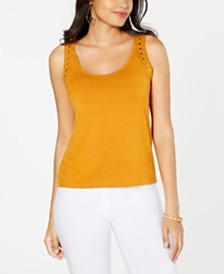 Thalia Sodi Studded Knit Tank, Created for Macy's