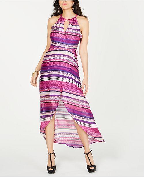 Thalia Sodi Halter Wrap Maxi Dress, Created for Macy's