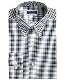 Men's Big & Tall Classic/Regular Fit Stretch Double Gingham Dress Shirt, Created for Macy's