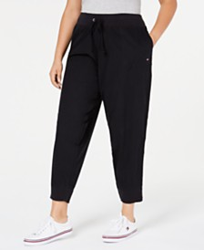 Tommy Hilfiger Plus Size Cotton Ankle Jogging Pants