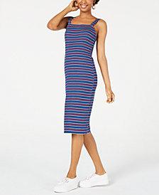 Ultra Flirt Juniors' Striped Bodycon Midi Dress
