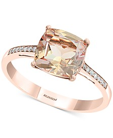 EFFY® Morganite (2-1/6 ct. t.w.) & Diamond Accent in 14k Rose Gold