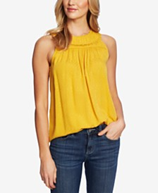 CeCe Embellished Sleeveless Blouse