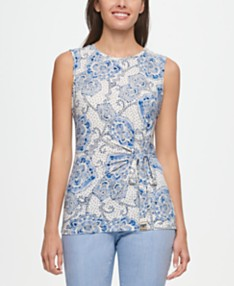 010b426e Tommy Hilfiger Printed Tie-Side Top