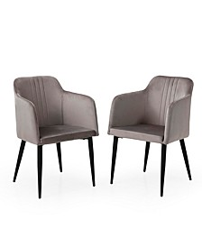 Jason Modern Living Room Accent and Dining Arm Chair, Set of 2