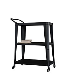 3-Tiered Metal FrameIndustrial Dining Cart with Swivel Wheels
