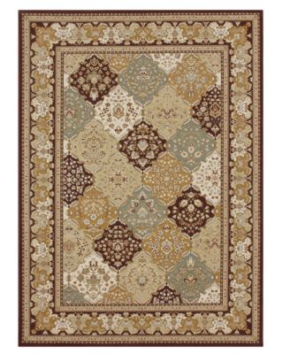CLOSEOUT! Area Rug, Samira WL02 Panel Multi/Coffee 2' x 3'