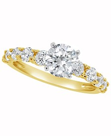 Certified Round Diamond Engagement Ring (2 ct. t.w.) in 14k White Gold, Rose Gold, or Yellow Gold