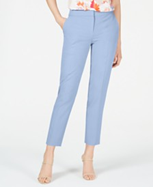 Bar III Solid Bi-Stretch Pants, Created for Macy's