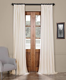 """Exclusive Fabrics & Furnishings Solid Cotton Blackout 50"""" x 96"""" Curtain Panel"""