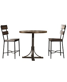 Jennings 3-Piece Counter Height Dining Set with Non-Swivel Counter Height Stools
