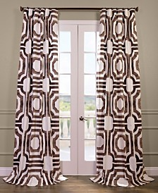 "Exclusive Fabrics & Furnishings Mecca Printed Cotton 50"" x 84"" Curtain Panel"