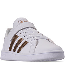adidas Little Girls' Grand Court Casual Sneakers from Finish Line