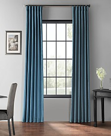 """Exclusive Fabrics & Furnishings Blackout Vintage Textured 50"""" x 108"""" Curtain Panel"""