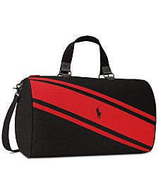 Receive a Complimentary Duffel Bag with any large spray purchase from the Ralph Lauren Polo Red Fragrance Collection