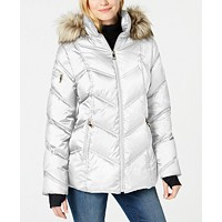 Deals on Nautica Faux-Fur-Trim Hooded Puffer Coat