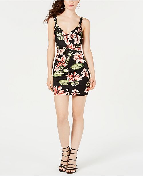 GUESS Corrine Ruched Bodycon Dress
