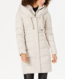 Tahari Pillow-Collar Hooded Down Puffer Coat