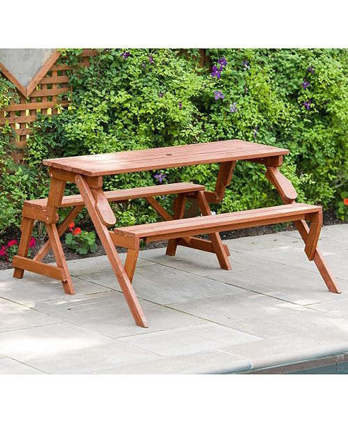 Outstanding Convertible Picnic Table And Garden Bench Dailytribune Chair Design For Home Dailytribuneorg