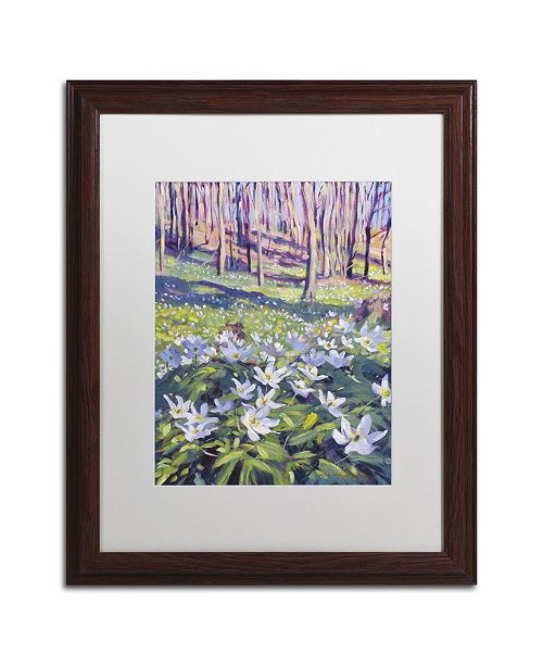 """Trademark Global David Lloyd Glover 'Anemones in the Meadow' Matted Framed Art - 16"""" x 20"""""""