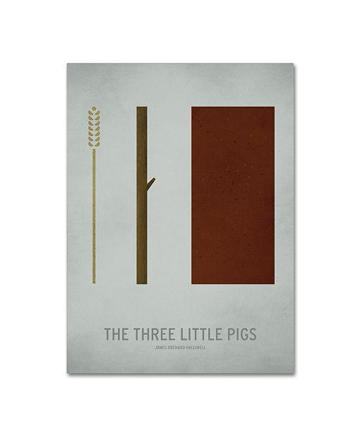 "Trademark Global Christian Jackson 'Three Little Pigs' Canvas Art - 18"" x 24"""