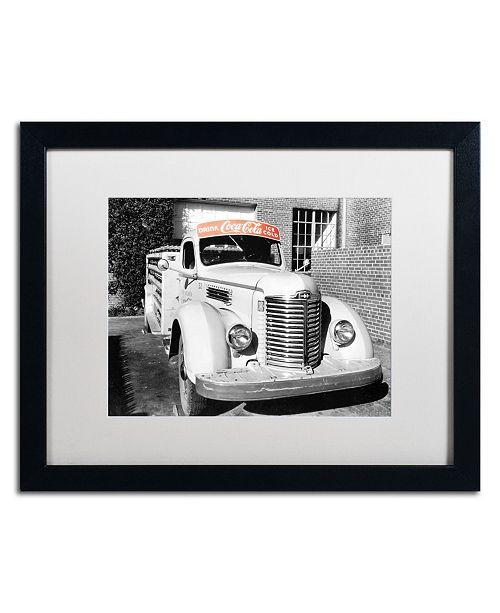 """Trademark Global Coca Cola 'Color Splash Vintage Photography 13' Matted Framed Art - 20"""" x 16"""""""