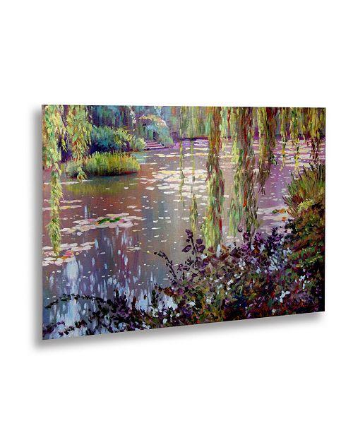 "Trademark Global David Lloyd Glover 'Homage to Monet' Floating Brushed Aluminum Art - 22"" x 16"""