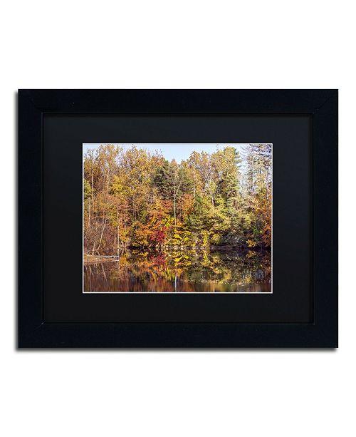 """Trademark Global Jason Shaffer 'Autumn Quarry' Matted Framed Art - 14"""" x 11"""""""