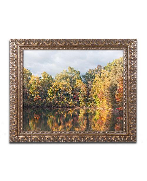 "Trademark Global Jason Shaffer 'Autumn Reflections' Ornate Framed Art - 14"" x 11"""
