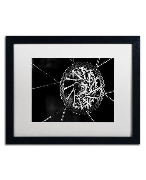 "Trademark Global Jason Shaffer 'Bike Parts' Matted Framed Art - 20"" x 16"""