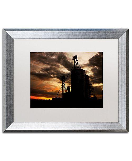 """Trademark Global Jason Shaffer 'Gravel Mill' Matted Framed Art - 20"""" x 16"""""""