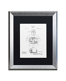 """Claire Doherty 'Baseball Glove Patent 1905 White' Matted Framed Art - 16"""" x 20"""""""