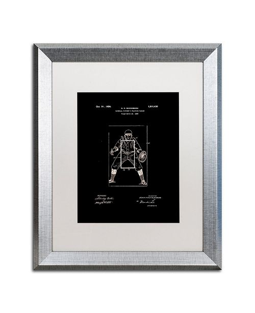 """Trademark Global Claire Doherty 'Practice Target Patent 1924 Black' Matted Framed Art - 16"""" x 20"""""""