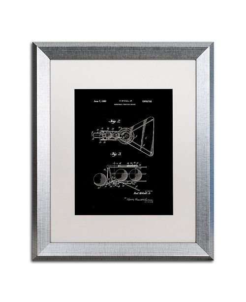 """Trademark Global Claire Doherty 'Practice Device Patent Part 2 Black' Matted Framed Art - 16"""" x 20"""""""