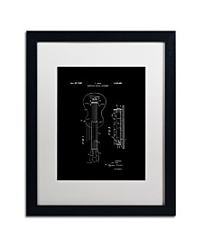 """Claire Doherty 'Gibson Electric Guitar Patent Black' Matted Framed Art - 16"""" x 20"""""""