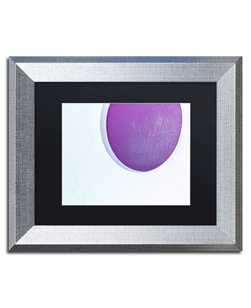 """Trademark Global Claire Doherty 'Porthole in Plum' Matted Framed Art - 14"""" x 11"""""""