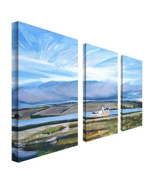 """Trademark Global Colleen Proppe 'Inverness Sky' 3-Panel Art Set - 24"""" x 12"""""""