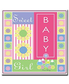 "Sweet Baby Girl by Grace Riley-Framed Canvas Art - 24"" x 24"""